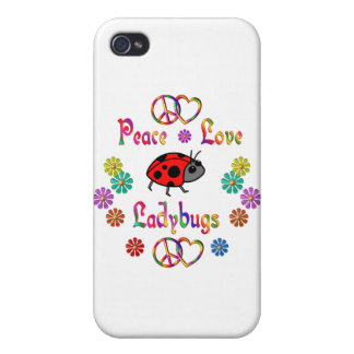 PEACE LOVE LADYBUGS COVER FOR iPhone 4