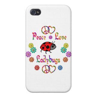 PEACE LOVE LADYBUGS iPhone 4 CASE