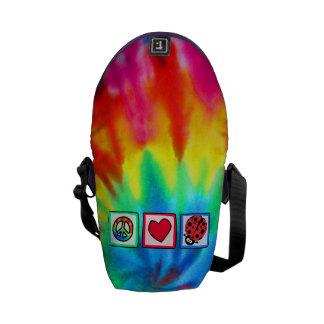 Peace Love Ladybugs Courier Bag