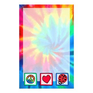 Peace, Love, Ladybugs Stationery