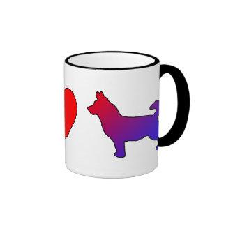 Peace Love Lancashire Heelers Coffee Mug