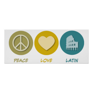 Peace Love Latin Poster