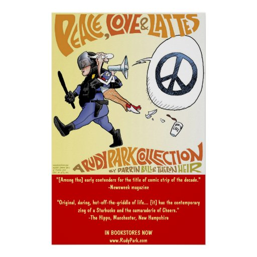 Peace, Love & Lattes: a Rudy Park collection Poster
