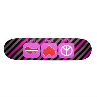 Peace Love Latvia 19.7 Cm Skateboard Deck