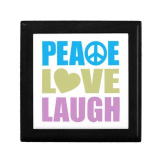 Peace Love Laugh Trinket Box