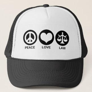 Peace Love Law Cap