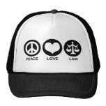 Peace Love Law Mesh Hats