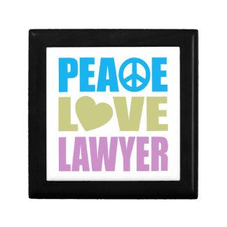 Peace Love Lawyer Keepsake Boxes