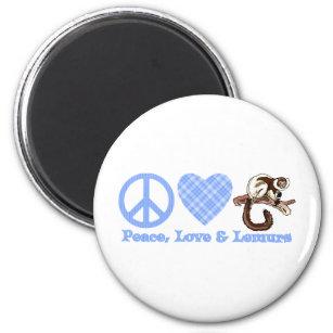 Peace, Love & Lemurs Magnet