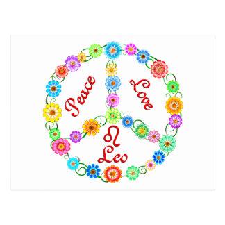 Peace Love Leo Post Card