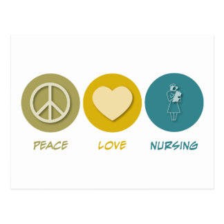 Peace Love Licensed Vocational Nursing Postcard