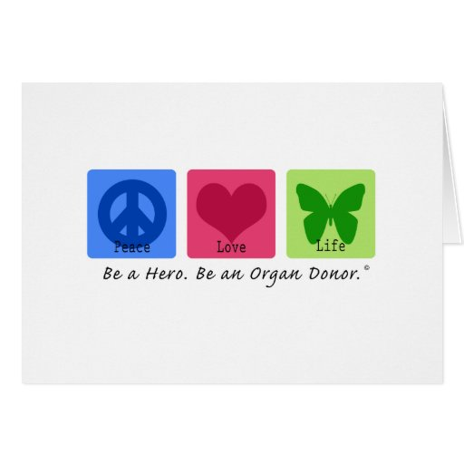Peace Love Life Greeting Cards