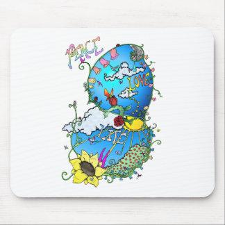 Peace Love Life Mouse Pad