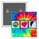 Peace, Love, Lightning Bolt Button