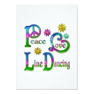 Peace Love Line Dancing Invites