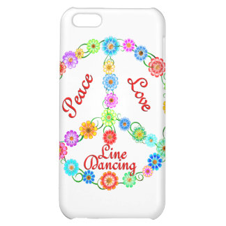 Peace Love Line Dancing Cover For iPhone 5C