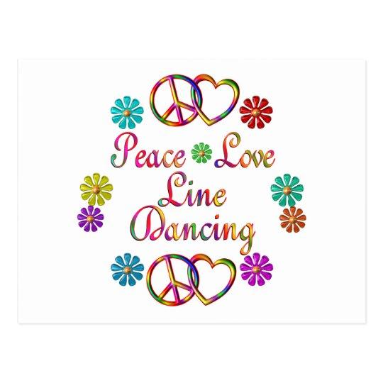 PEACE LOVE LINE DANCING POSTCARD
