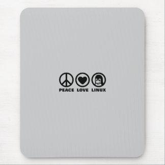 Peace Love Linux Mouse Mat