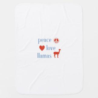 Peace Love Llamas Baby Blanket