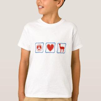 Peace Love Llamas Children's Hanes Tagless T-Shirt