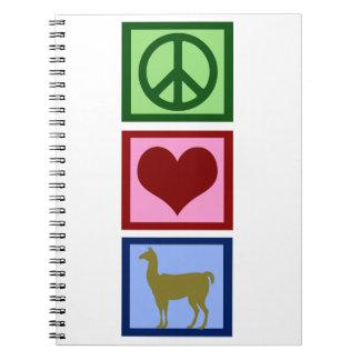 Peace Love Llamas Notebook