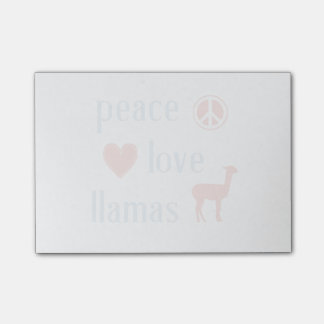 Peace Love Llamas Post-it Notes