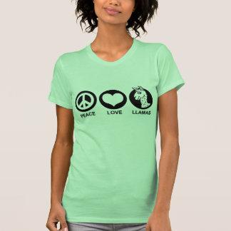 Peace Love Llamas T Shirts