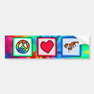 Peace, Love, Lobsters Bumper Sticker
