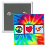 Peace, Love, Lobsters Pinback Button