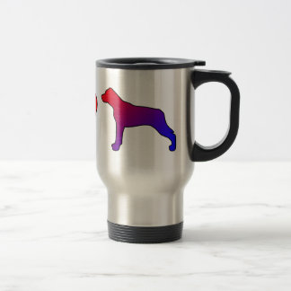 Peace Love Louisiana Catahoula Leopard Dogs Stainless Steel Travel Mug