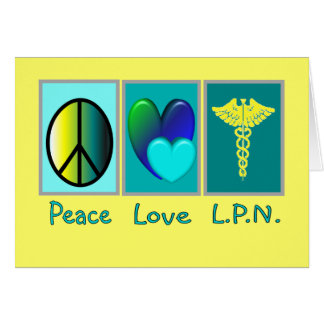 Peace Love LPN Gifts Cards
