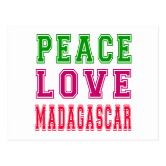 Peace Love Madagascar. Postcard