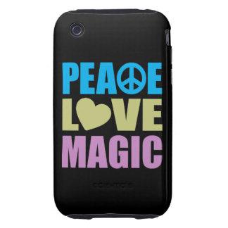 Peace Love Magic Tough iPhone 3 Cover
