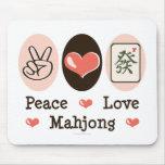 Peace Love Mahjong Mousepad