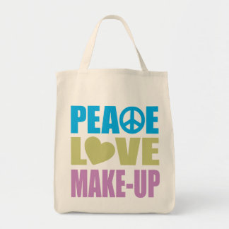 Peace Love Make-Up Canvas Bags