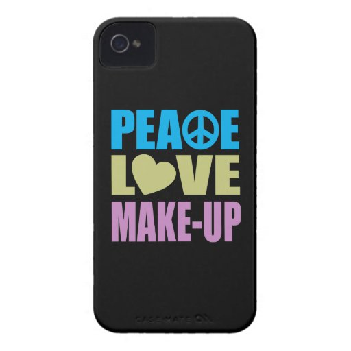 Peace Love Make-Up iPhone 4 Case-Mate Cases