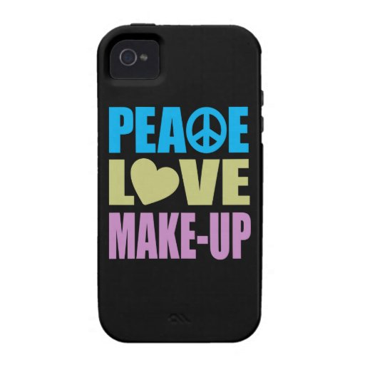 Peace Love Make-Up iPhone 4/4S Cover