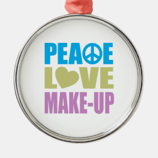 Peace Love Make-Up Christmas Ornament