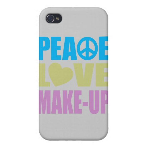 Peace Love Make-Up iPhone 4/4S Covers