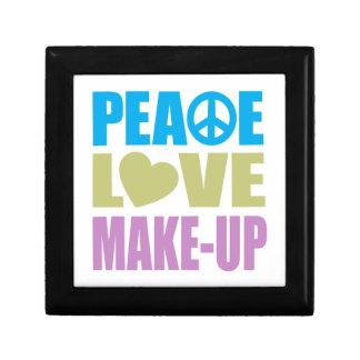 Peace Love Make-Up Small Square Gift Box
