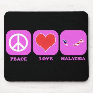 Peace Love Malaysia Mouse Pad