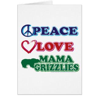Peace-Love-Mama-Grizzlies Greeting Card