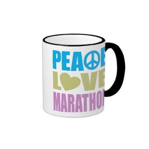 Peace Love Marathon Mug