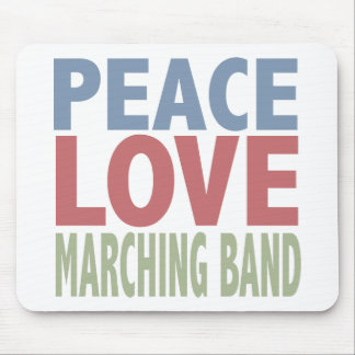 Peace Love Marching Band Mouse Pad