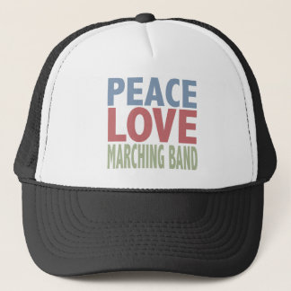 Peace Love Marching Band Trucker Hat