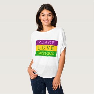 PEACE LOVE MARDI GRAS shirt top 72marketing