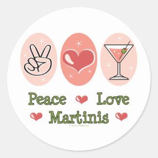 Peace Love Martini Stickers