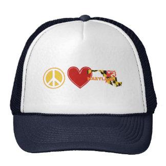 Peace Love Maryland Cap