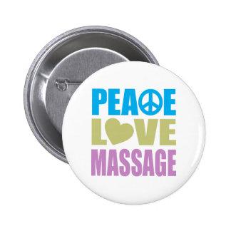 Peace Love Massage Pinback Buttons
