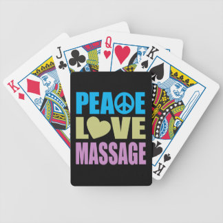 Peace Love Massage Bicycle Playing Cards